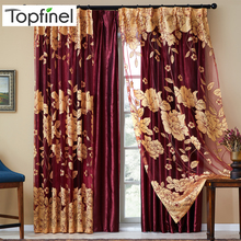 Top Finel Modern Luxury Embroidered Sheer Curtains for Living Room Bedroom Kitchen Door Tulle Curtains Drapes Window Treatments цена и фото