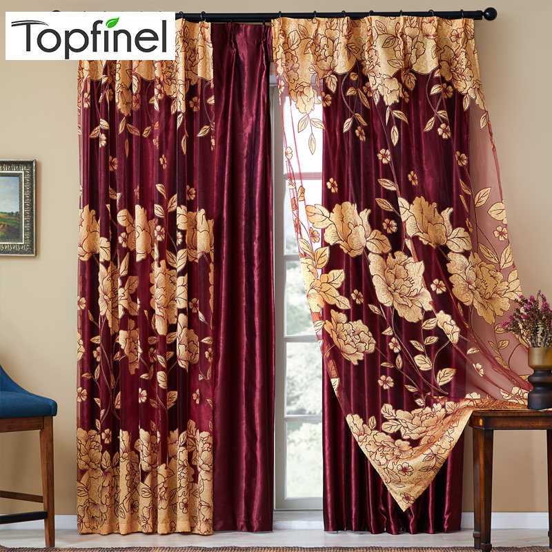 Top Finel Modern Luxury Embroidered Sheer Curtains for Living Room Bedroom Kitchen Door Tulle Curtains Drapes Window Treatments