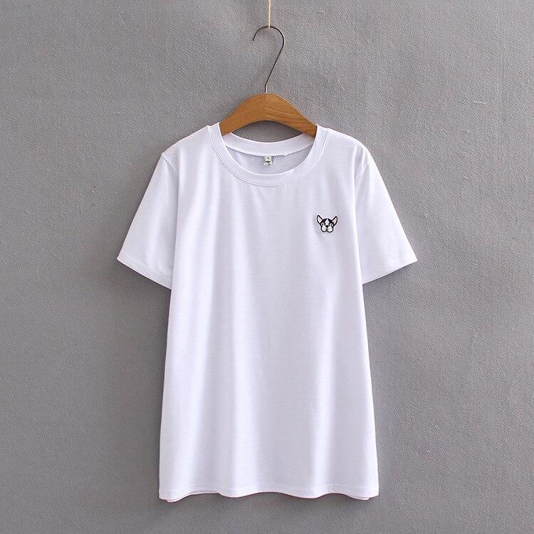 Camiseta de algodón informal de verano para mujer, camiseta de manga corta, camiseta para mujer, cuello redondo
