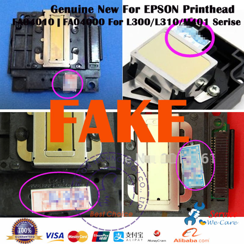 Original New FA04010 Inkjet Print head Printhead For Epson L300 L301 L310 L351 L353 L550 L551