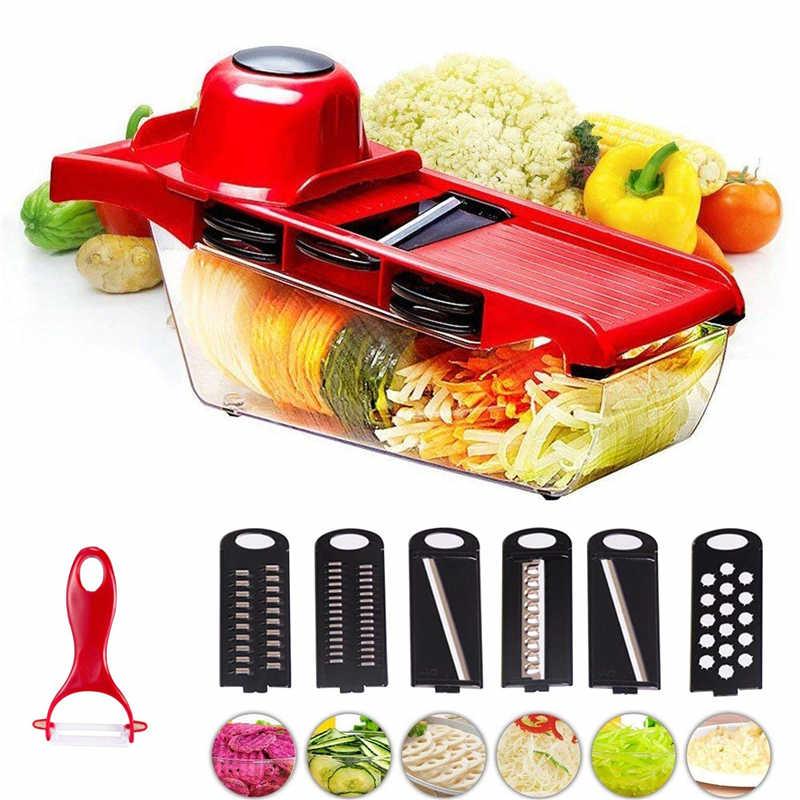 Vegetable Fruit Chopper Food Slicer Cutter Peeler Stainless Steel Kitchen Tool