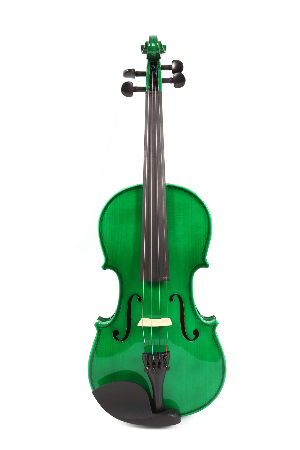 New High Quality 4/4 Violin Green Color Violin Solid Maple Spruce Hand Made violin case Bow