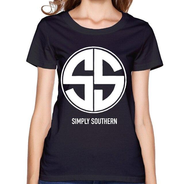 2017 Simply Southern Printed Women Premium Cotton Shirts Christmas Humorous Design Summer Hip Hop