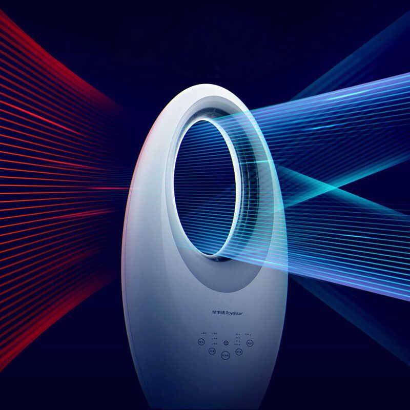 Konveksi Bladeless Fan Kipas Angin Listrik Rumah Tangga Remote Control Bisu Gemetar Kepala Lampu Malam
