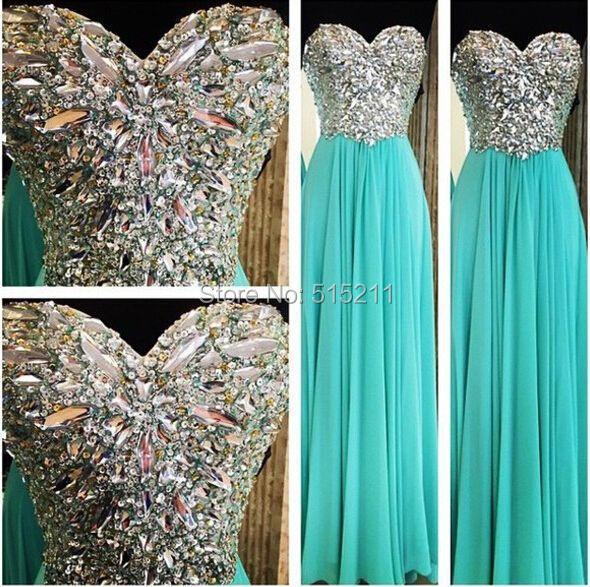 Clásico elegante Corset cequis del amor Crystal Mint vestido de ...