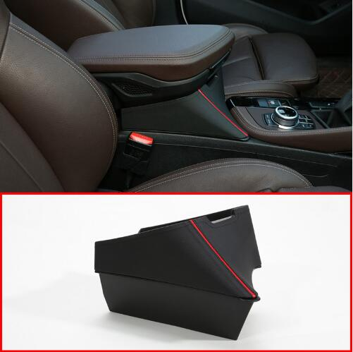 4 Styles Center Armrest Storage Box Container Tray For <font><b>BMW</b></font> <font><b>X1</b></font> F48 2016-<font><b>2019</b></font> X2 F47 2018 <font><b>2019</b></font> Car Accessories Left Hand Drive image