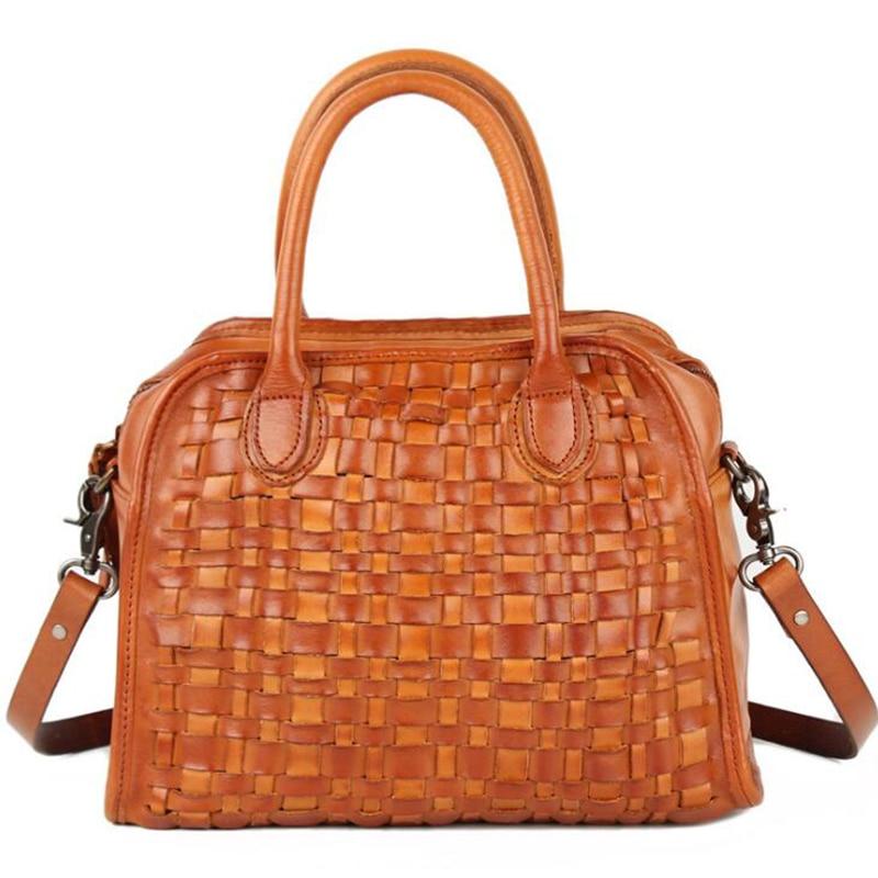 Luxury 100% Real Leather Women Designer Handbag Cowhide Genuine Leather Weaving Shoulder Messenger Bag Euro Classic Elegant Tote все цены