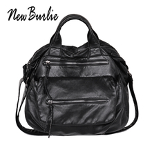 2019 top-handle ladies casual Hobo Women Messenger Bags Cross body Soft PU Leather Shoulder Bag   Female Luxury Handbag Tote sac