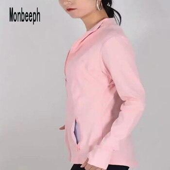 2019 MONBEEPH جديد أنثى الأساسية الستر زيبر سترة المرأة عارضة الإناث سترة معطف