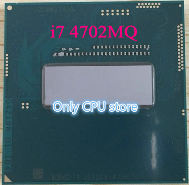 intelI7 4702MQ CPU SR15J 2.2-3.2G Haswell quad core eight thread official version of the notebook HM86 supports HM87 CPU chipse