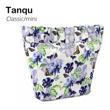 TANQU nouveau tissu de sergé Composite imperméable à leau Frill pli doublure intérieure insérer une poche à glissière pour Mini poche Obag classique pour O sac