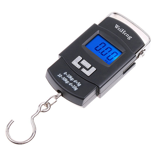 50kg Mini Digital Hanging Luggage Scale Weight Portable Lcd Electronic Weighing Scales