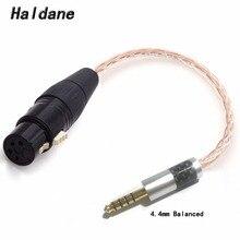 Ücretsiz kargo Haldane 2.5mm TRRS/4.4mm dengeli erkek 4 Pin XLR kadın dengeli bağlantı TRS ses adaptör kablosu