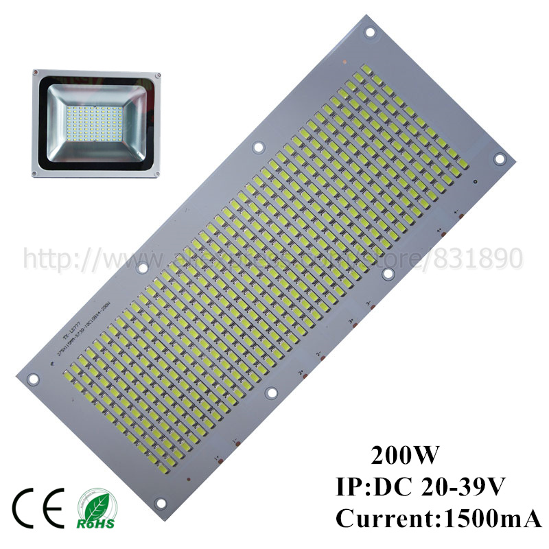 10pcs LED pcb floodlight pcb plate 200W 260*130mm 20000-22000lm SMD5730 Light Source Panel for outdoor Landscape Street light