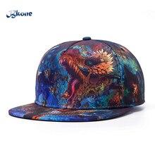 BKONE Adjustable Baseball Cap Bone Snapback Casquette Flat Wide Brim Dragon Casual Hats Men Women Leisure Gorras