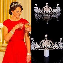 Kit de joias para casamento, acessórios de noiva e cabelo, com strass e cristal, tiara da coroa, para casamento