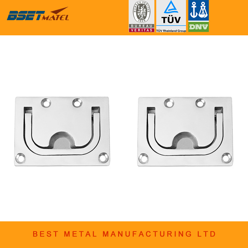 2 pieces/Lot stainless steel 316 Flush hatch Lift Ring Hatch Pull Handle Locker Cabinet boat marine hardware
