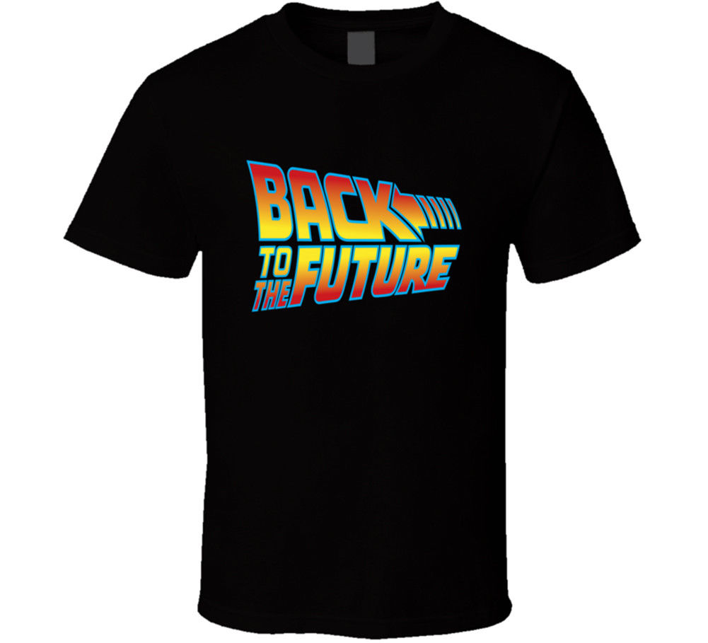 Men T-Shirt Men Clothing Plus Size top tee Back To The Future T-Shirt Tee Movie Classic 80s Marty Mcfly Gift New From US
