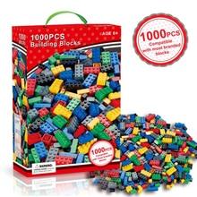 1000Pcs City Building Blocks Creative Bulk Sets Compatible With LegoINGs DIY Educational bricks Assembly Toys for Children цена 2017