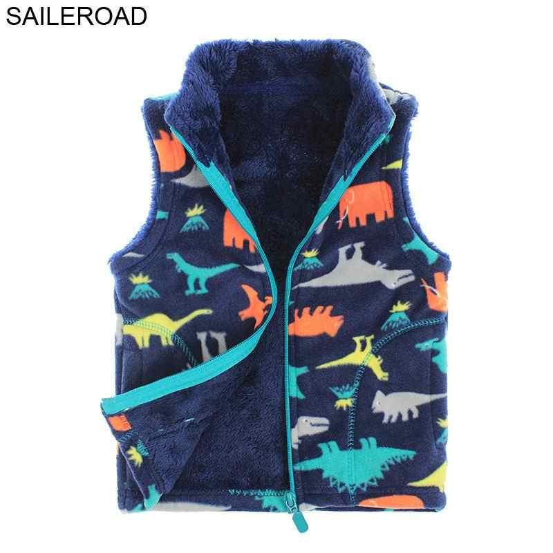 SAILEROAD/мультфильм динозавра жилет для маленького мальчика пальто Зимние пальто детская теплая для маленьких мальчиков свитер жилет 2-6years для Для детей жилет