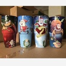 30 unze Becher Chiristmas Halloween Geschenk Weihnachtsmann Deer Pinguin 304 Edelstahl Isolierung Tumbler Autos Kaffeetasse Außen Tassen