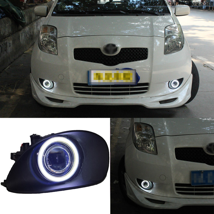 Ownsun превосходным 55W галогенные лампы cob Противотуманные фонари Источник Ангел глаз бампер для Тойота Ярис 2007-2009