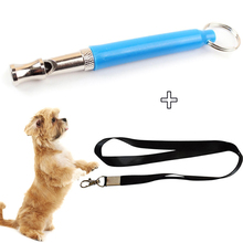 Dog Whistle Adjustable Pitch Ultrasonic Training Whistles Patrol Sound Repellent Repeller with Rope