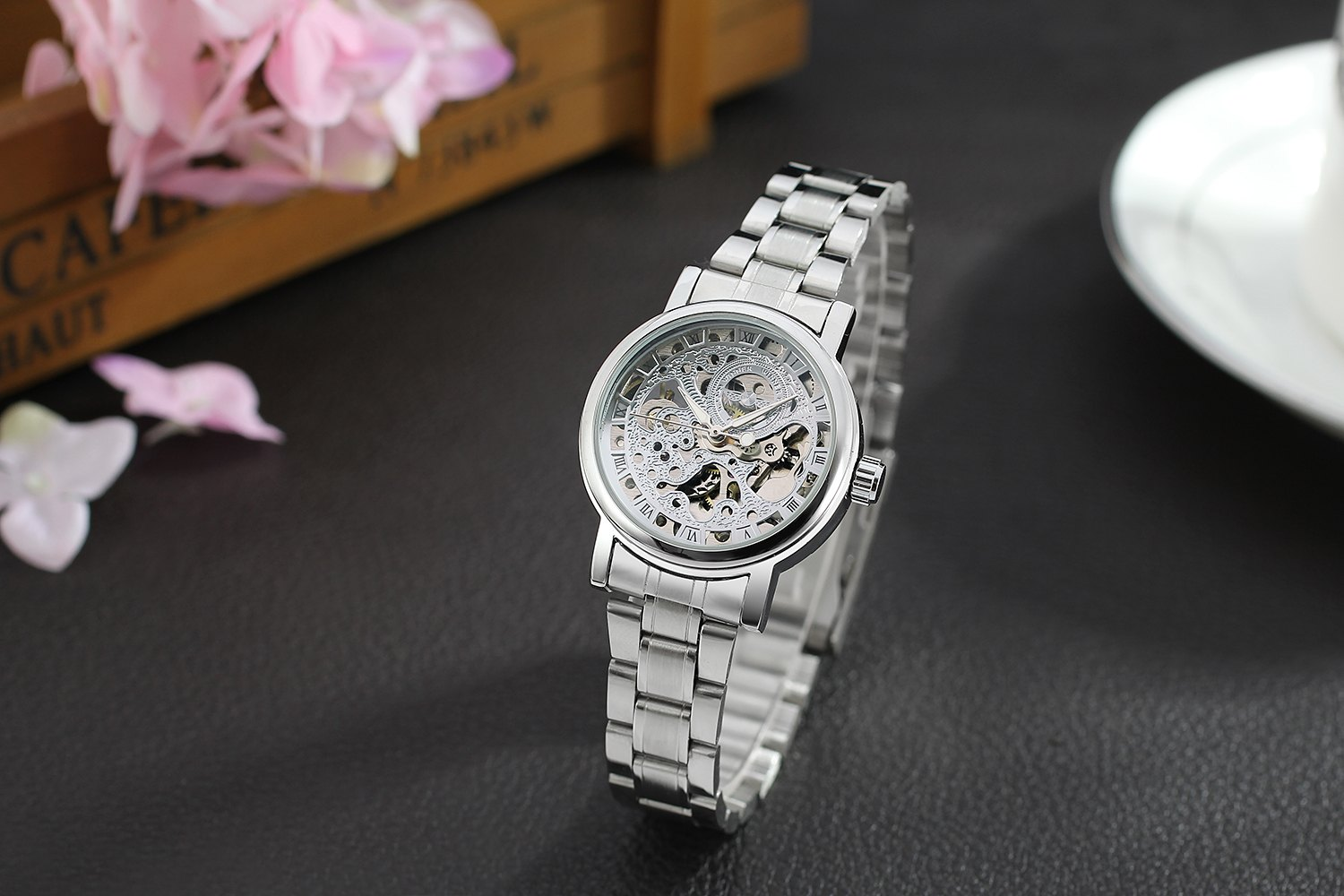 WINNER Ladies Classic Automatisk Mekanisk Watch Selvvindende Skeleton - Dameure - Foto 6