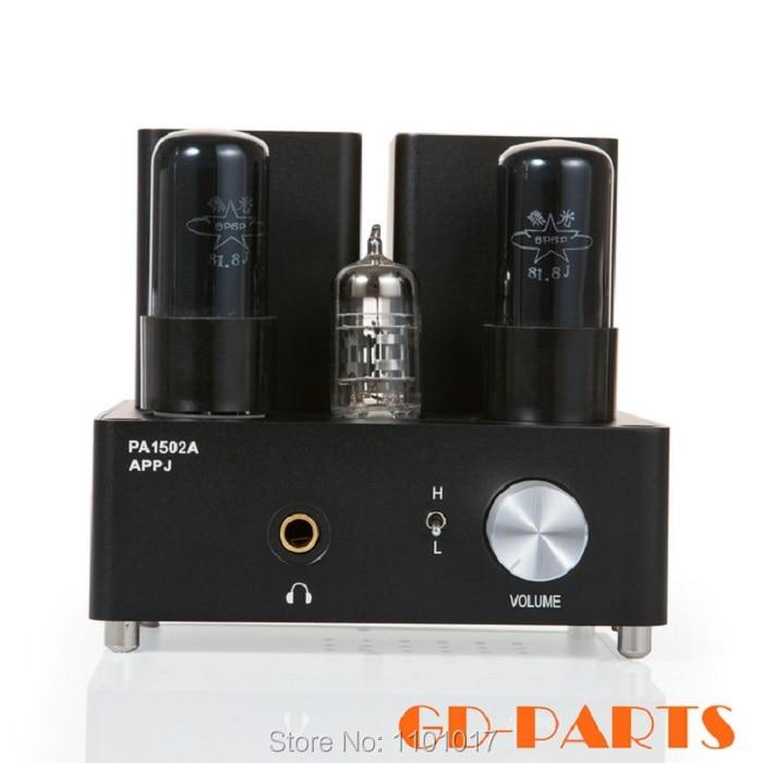 APPJ PA1502A Tube Amplificateur de Casque HIFI EXQUIS 6n4 (12ax7) 6P6P (6v6) lampe casque ampères