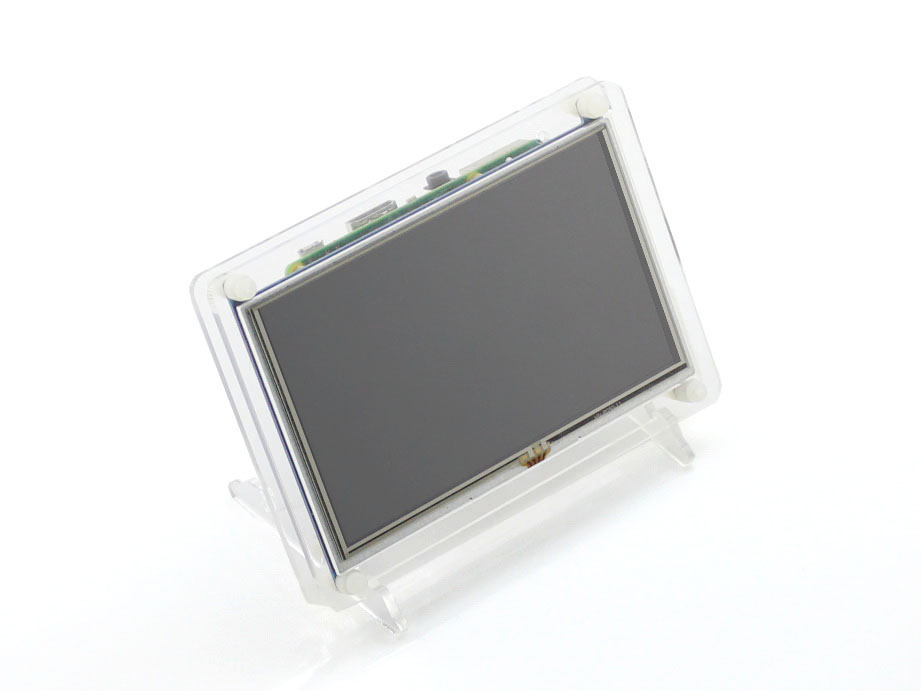 Raspberry Pi Lcd Display 5 Inch Hdmi Lcd (b) (with Clear Case) Touch Screen Supports Raspberry Pi 2 B Banana Pi / Banana Pro module waveshare raspberry pi 5inch hdmi lcd b with case touch screen support rpi 2 b a b 3 b banana pi pro beaglebone black