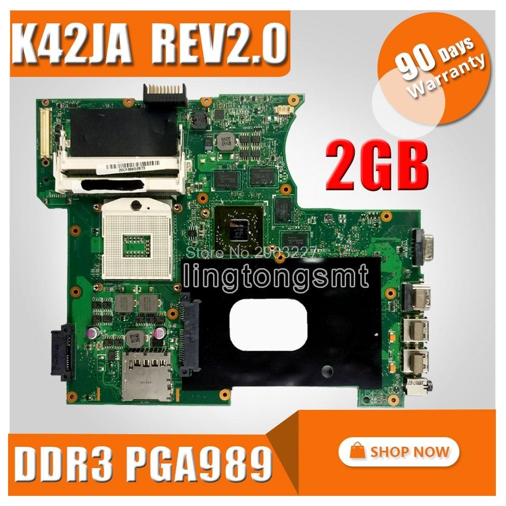 K42JA HD5730 2GB For ASUS K42J A40J X42J A42J Laptop Motherboard K42JA REV 2.0 2GB memory 100% tested mainboard
