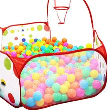 Snowshine3 #5003 Pop Up Hexagon Polka Dot Kids Ball Play Pool Tent Carry  Tote Toy +50 Balls Table Game