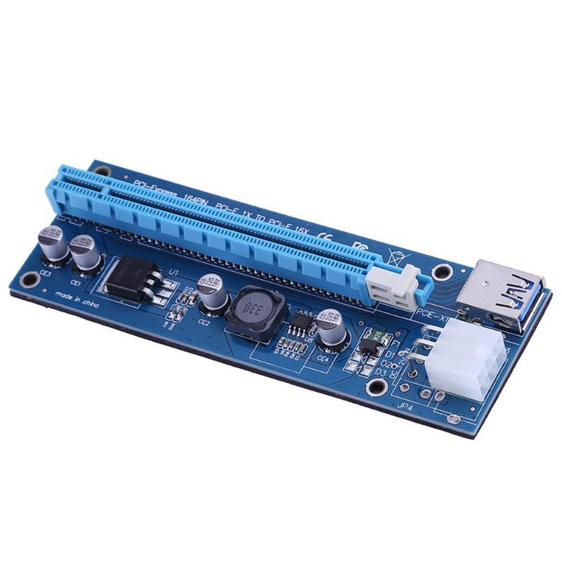 6pin PCI E PCIe Riser PCI Express USB 3 0 1x to 16x Extender Riser Card