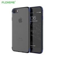 FLOVEME Original For iPhone 7 8 Plus Transparent Case For iPhone 6 6S Plus Luxury Phone Cases For iPhone 7 8 Cover Coque Silicon