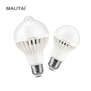 Image 1 - PIR Bewegungssensor glühbirnen E27 220 V Schallsensor led lampe 3 Watt 5 Watt 7 Watt 9 Watt 12 Watt Für Treppen Flur Balkon Nacht Notfall birne