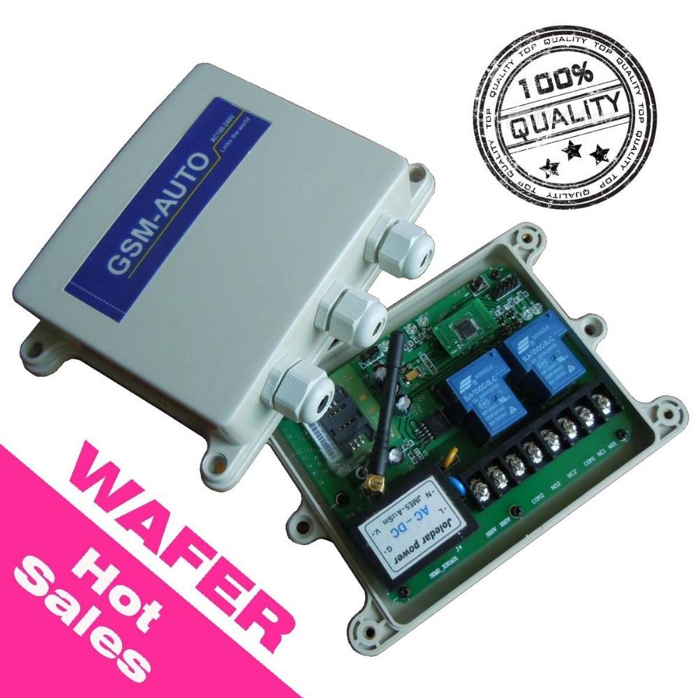 WAFER ბრენდის GSM დისტანციური მართვის შეცვლის ტაიმერის საათი დიზაინის შიგნით AC110 to 240V ენერგიის შეყვანა