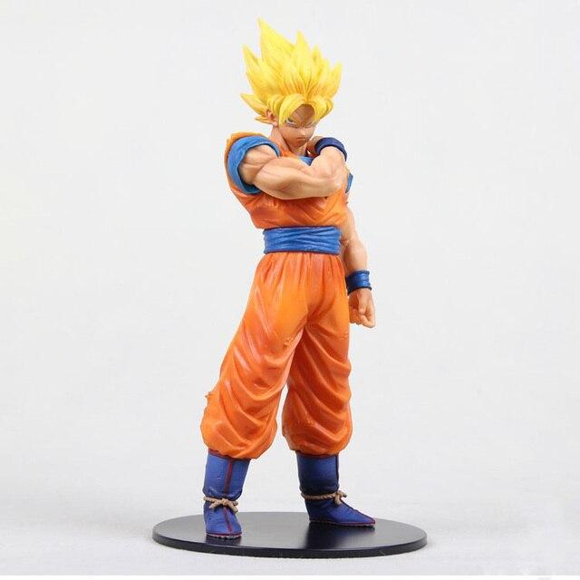 18 cm Dragon Ball Z Son Goku Dragonball Super Saiyan Brinquedos Modelo de Resolução De Soldado PVC Figuras de Ação Brinquedos Infantis presentes