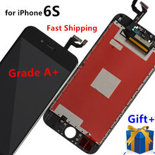 AAA+ Free Shipping for iPhone 6S LCD Display Screen and Digitizer Assembly Replacement Repair Parts,Black White