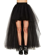 2018 Sexy Short Front Long Back Tulle 4 Color Crinoline Women Skirt Dress Vintage Tutu skirt Party Dance Lolita petticoat EE6658