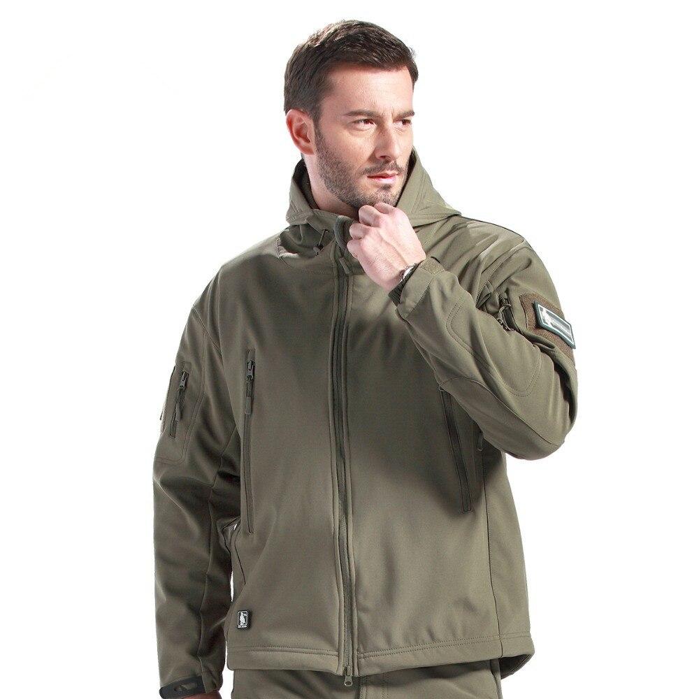 เกียร์ยุทธวิธีกรูพรางแจ็คเก็ตกลางแจ้งผู้ชายกองทัพกันน้ำอุ่นCamo Hunterเสื้อผ้าเสื้อกันลมเสื้อแจ็คเก็ตทหาร-ใน แจ็กเก็ต จาก เสื้อผ้าผู้ชาย บน   3