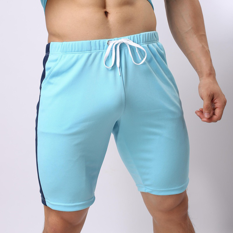 New Joggers Shorts Fitness Mens Trainer Beach Short Pants Loose Workout Men Patchwork Drawstring Casual Comfortable Sweatpants
