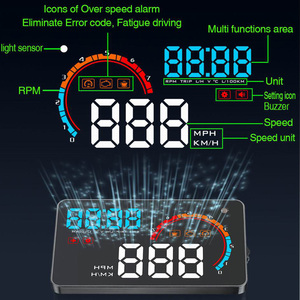 "Image 4 - 5.5"" A8 Car HUD Head Up Display And 4"" D2000 OBD2 Display LED Windscreen OBD Scanner Over Speed Warning Car Speed Projector"