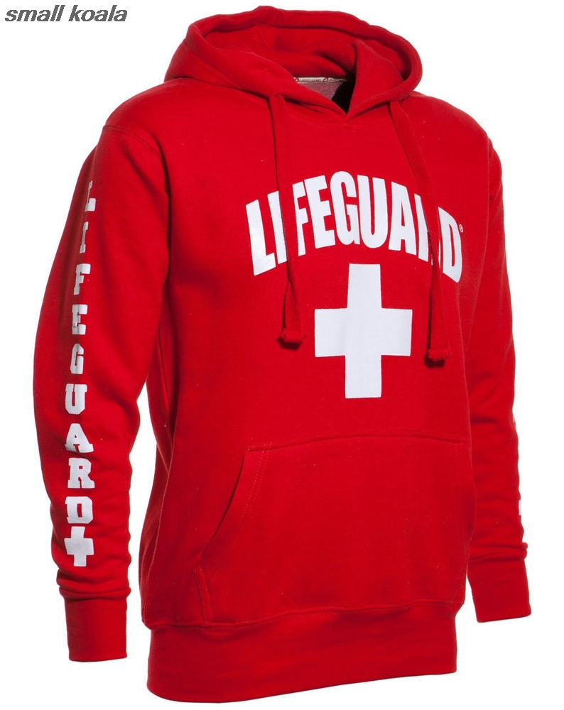 3 Side Print Lifeguard  Man Hoodie Sweatshirt Red Life Guard New Unisex S-2XL