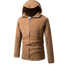 Foreign trade fast autumn winter hooded men s simple shake pile thickening  jacket 45e254389c99