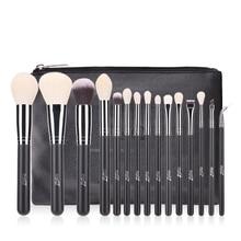 Msq 15Pcs Pro Makeup Brushes Set Powder Blusher Eyeshadow Blending Make Up