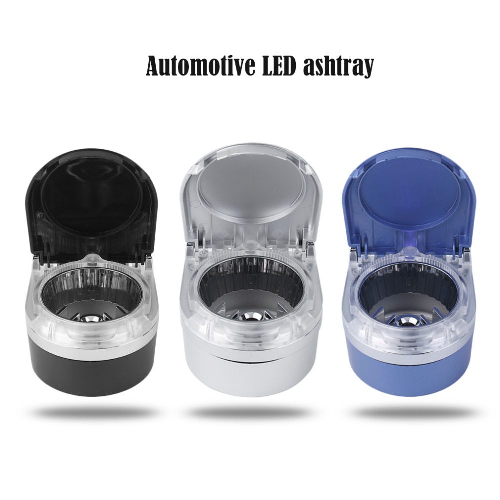 2018 Hot Selling Universal Truck Car Portable LED Light Ashtary Cigarette Smoke Cigar Auto Interior New Ash Holder Lamp Ash