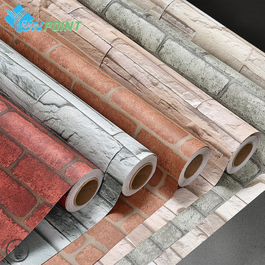 Modern Papel De Parede Brick Wallpaper Self Adhesive PVC Stone Wall Stickers For Bedroom Kitchen Waterproof Decorative Stickers