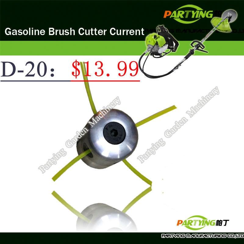 Free Shipping petrol lawn mower trimmer head 2-stroke brush cutter head grass cutting machine gasoline plastic  D-20  цены