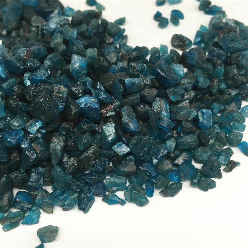 50g Natural Small size Raw Blue Apatite Rough Stones Crystal gravel  Minerals and Stones Rough Gemstone Specimen