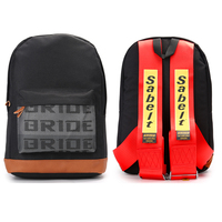 canvas backpack JKCOVER Auto Racing backpack bride Fabric straps style backpack Bride keycase Multifunctional backpack